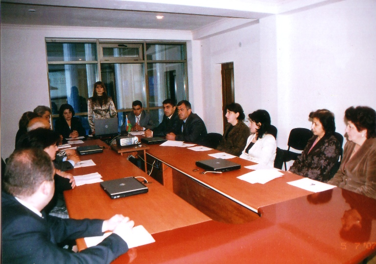 Meeting with the Qabala region community on the occasion of 84th anniversary of Heydar Aliyev's birthday. May 7, 2007