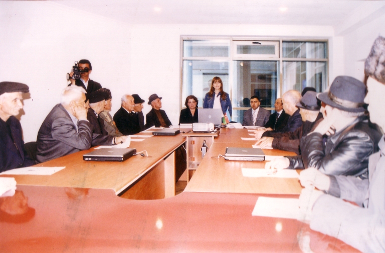 Meeting with a group of representatives of Elders Council of Qabala region. May 5, 2007